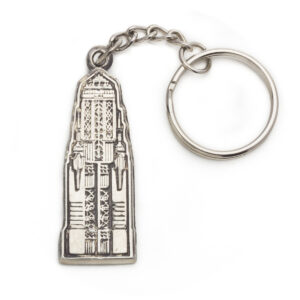 Bullocks Wilshire Vintage Keychain in Sterling Silver